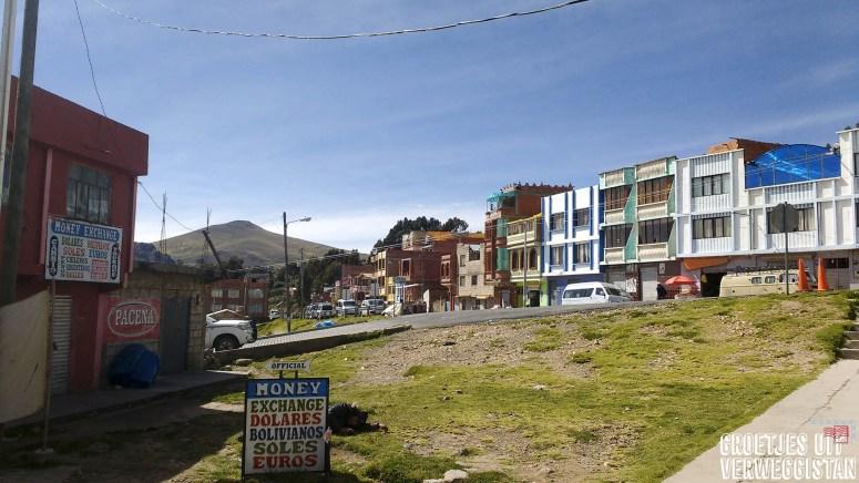 het stadje Kasani in Bolivia
