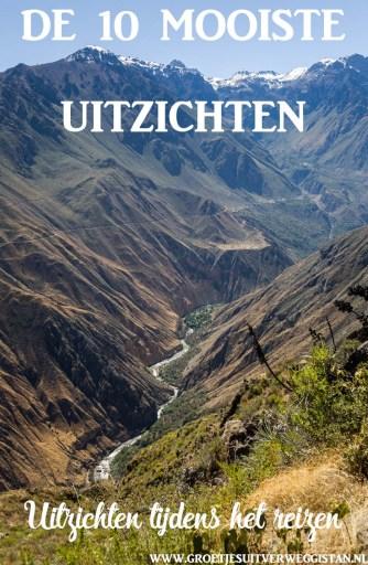 Uitzicht over de Colca Canyon in Peru met tekst: de 10 mooiste uitzichten op reis.