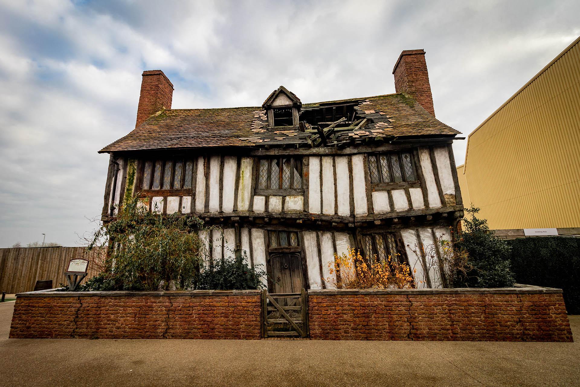 Het huis van Lily en James uit de Harry Potter films na Voldemort