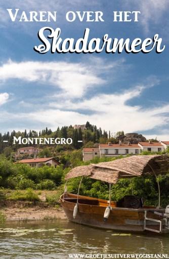 Pinterestafbeelding: varen over het Skadarmeer in Montenegro