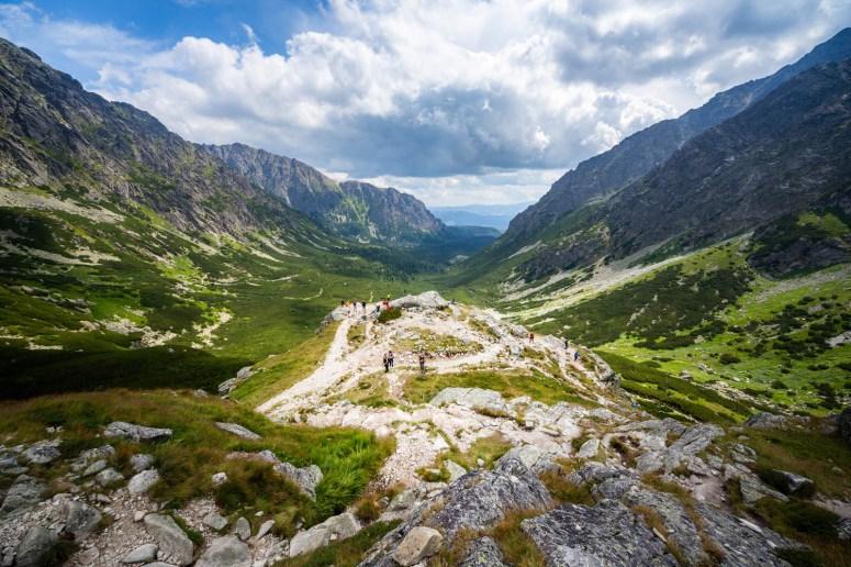 Uitzicht over het Tatragebergte in Slowakije.