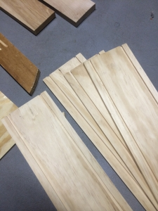 The sides of the box measured and grooved with a router