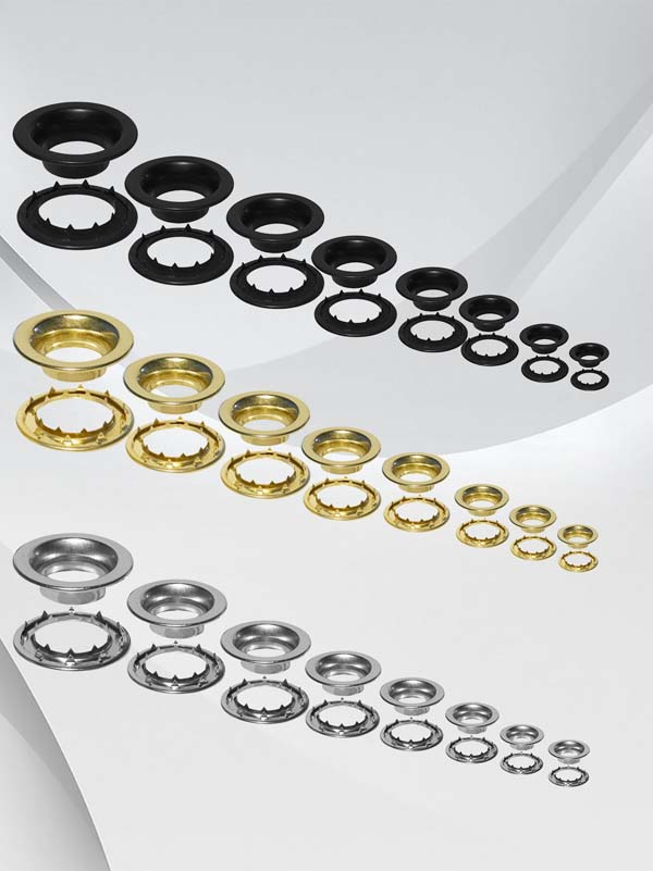 Rolled Rim Grommets With Spur Washers