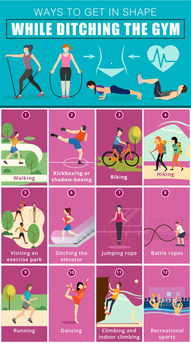Ways to Get in Shape While Ditching the Gym
