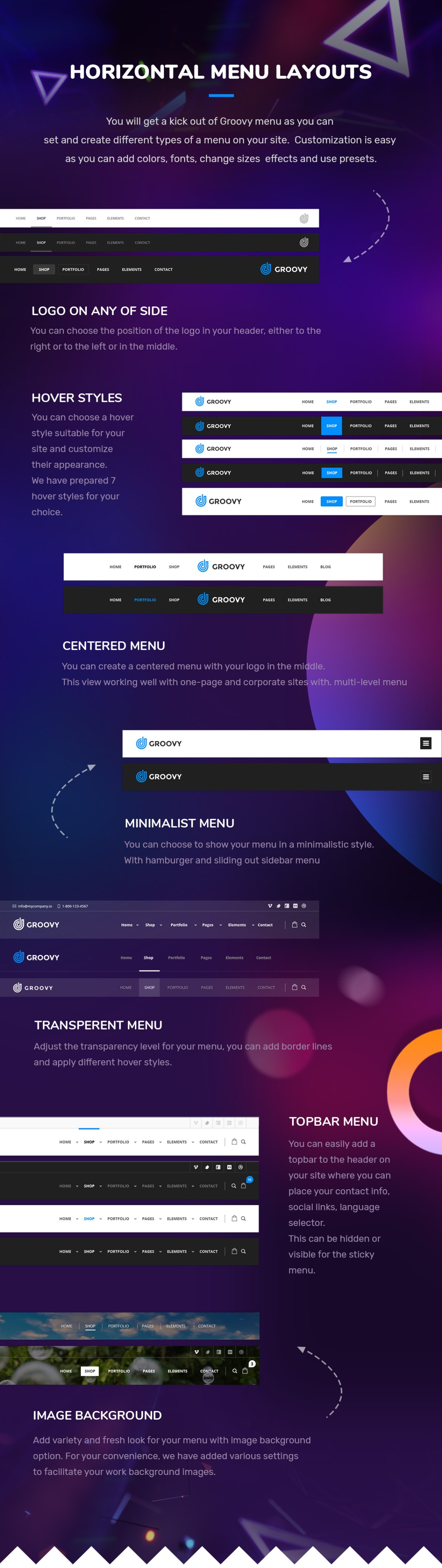 horizontal menu wordpress plugin