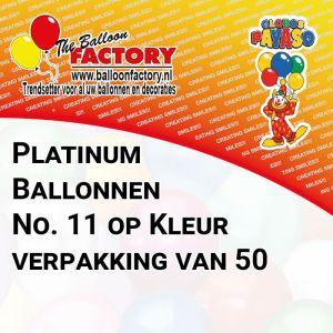 Platinum ballonnen op kleur verpakking van 50 ballonnen