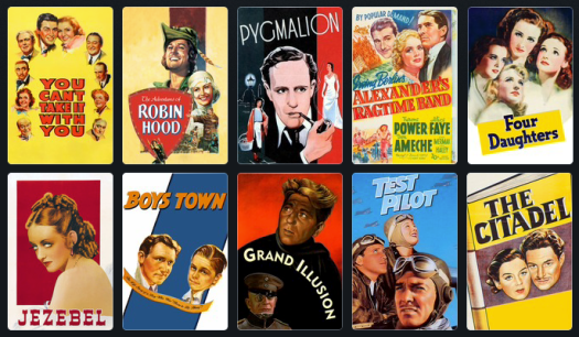 1939 films nominated for Outstanding Production