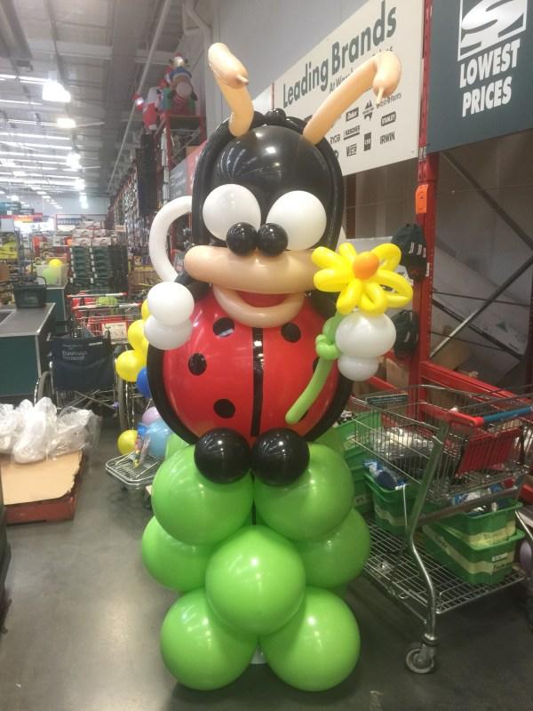 Jumbo Balloon Lady Bird sculpture