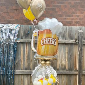 18th Birthday Stuffed Balloon Beer n snacks