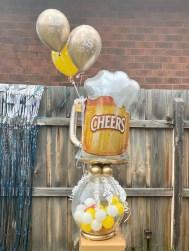 18th Birthday Stuffed Balloon Beer n snacks