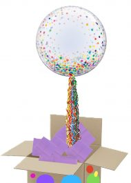 Rainbow Confetti bubble pop up