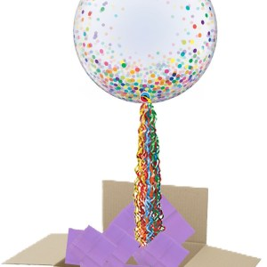 Rainbow Confetti bubble pop up