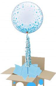 Blue Confetti bubble pop up