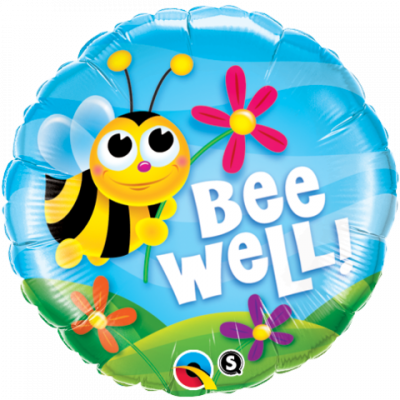 Foil with Bee and a flower saying bee Well