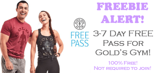 Golds Gym FREE 3 Day Pass