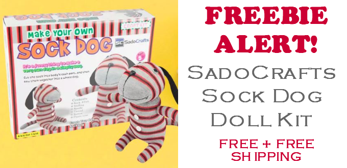 FREE SadoCrafts Sock Dog Doll Kit