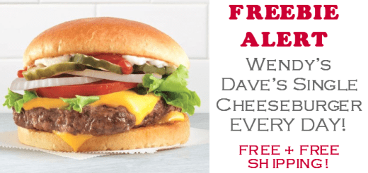 Wendys Daves Single Cheeseburger Free every day
