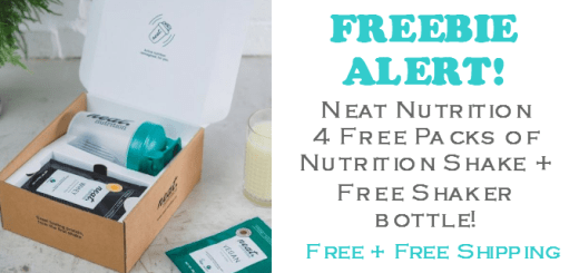 FREE Neat Nutrition Shake Shaker Bottle