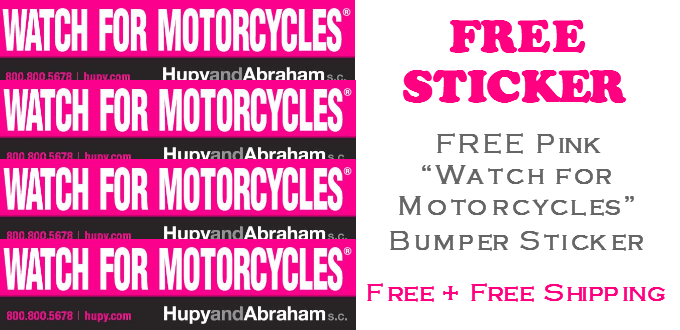 FREE Pink Watch for Motorcycles Bumper Sticker
