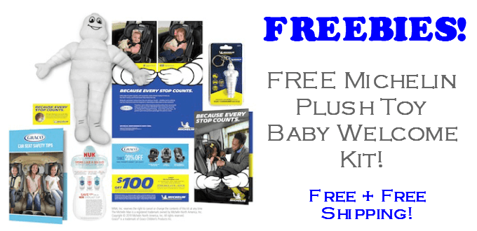 FREE Michelin Man Plush Toy Baby Welcome Kit!