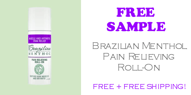 Brazilian Menthol Pain Relieving Roll-On FREE SAMPLE