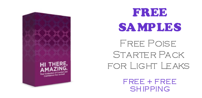 FREE Poise Starter Pack for Light Leaks FREE SAMPLES