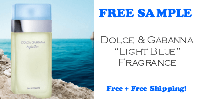 Dolce & Gabanna Light Blue Fragrance FREE SAMPLE