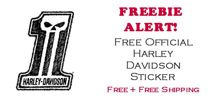 Harley Davidson FREE STICKER