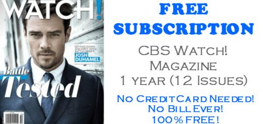 CBS Watch Magazine FREE Subscription