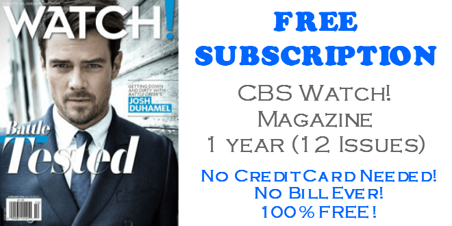 CBS Watch Magazine FREE Subscription