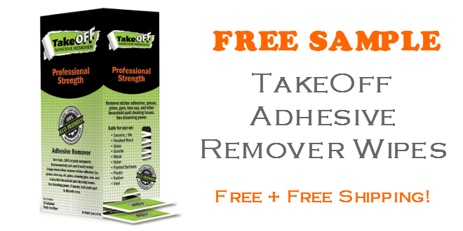 Take Off Adhesive Remover Wipes FREE SAMPLE