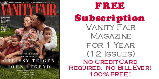 Vanity Fair Magazine FREE SUBSCRIPTION