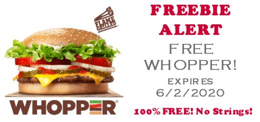 FREE Burger King Whopper