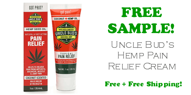Uncle Buds Hemp Pain Relief Cream SAMPLE