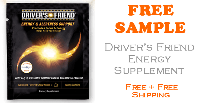 Drivers Friend Energy Supplement FREE SAMPLE