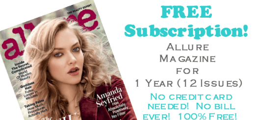 Allure Magazine Free Subscription for 1 Year