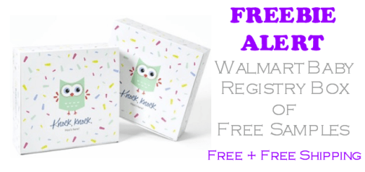 Walmart Baby Registry Box of Free Samples