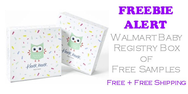 Walmart Baby Registry Box of Free Samples