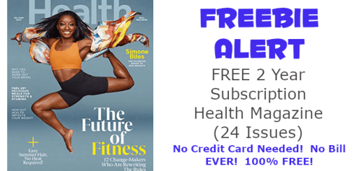 Health Magazine Free 2 Year Subscription (24 Issues)