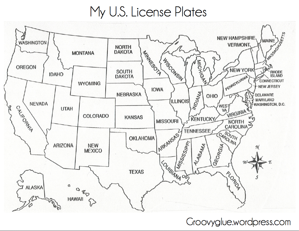 Fill In The Blank Printable Map Of The United States