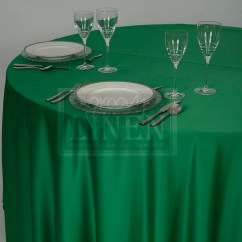 Chair Covers And Tablecloth Rentals Copper Dining Chairs Kelly Green Lamour Satin - Groovy Linen | Trendy Ottawa