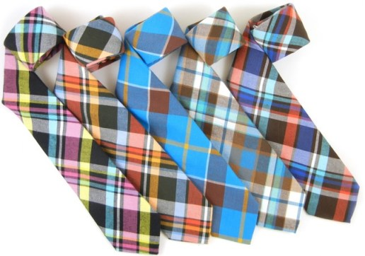 Colorful plaid ties from The Tie Bar.