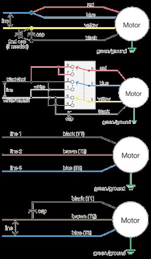 Dayton Motor Wiring Diagram : dayton, motor, wiring, diagram, Motor, Wiring, Diagrams, Groschopp