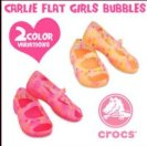 jual sepatu crocs carlie flat girls buble 085888666607