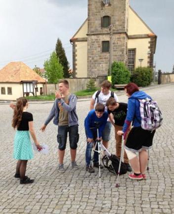 Team des Jugendbarcamps von Großschönau