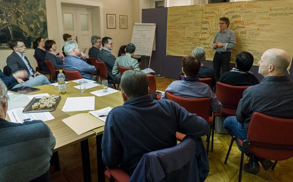 Gruppendiskussion bei der 3. Szenariowerkstatt in Großschönau, Januar 2017