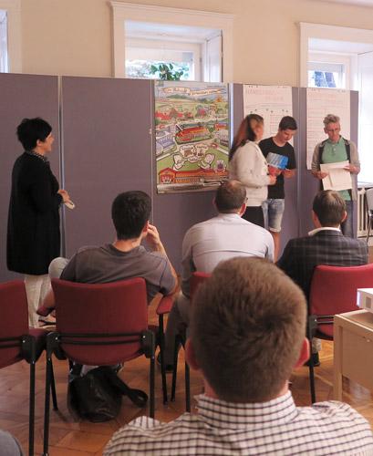 Die Arbeitsgruppe Jugend stellt ihre Ideen zum Thema: Realisierbare Kleinprojekte vor.