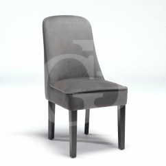 Grey Upholstered Dining Chairs Uk Set Of 6 Room New Chair In Dark Velour Fabric