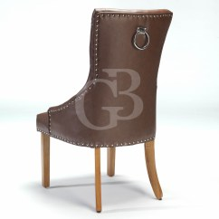 Scoop Back Upholstered Dining Chairs Metal Fold Up New Vintage Leather Pu Chair With Studs
