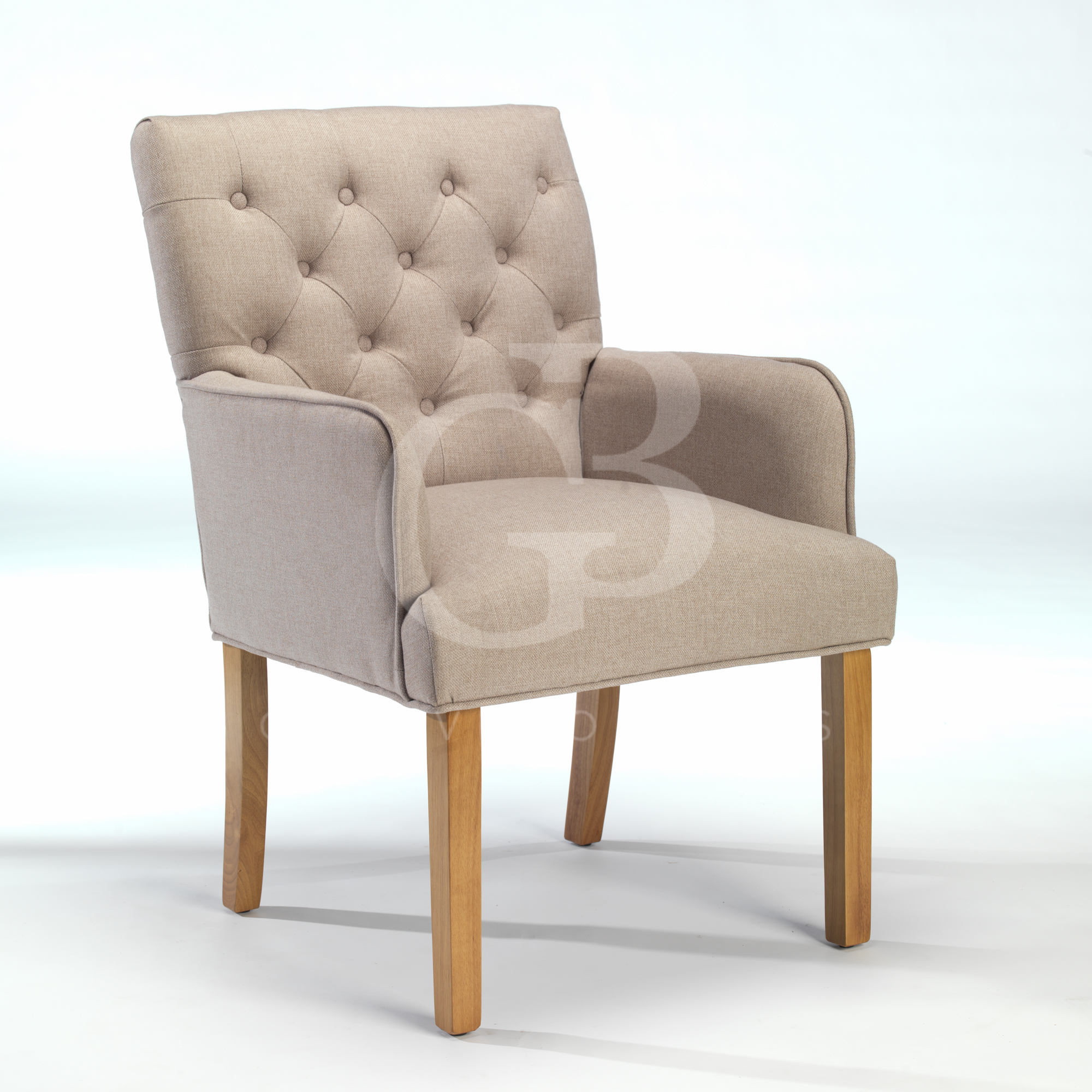Upholstered Club Chair New Upholstered Buttoned Back Dining Chair Club Chair